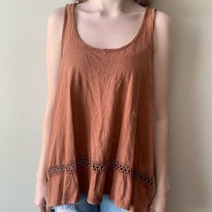 Rusty orange tank top